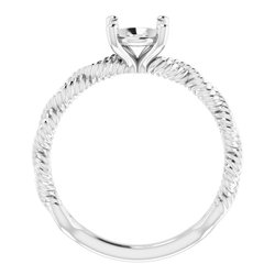Infinity-Inspired Solitaire Engagement Ring