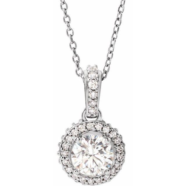 14K White 9/10 CTW Diamond 18