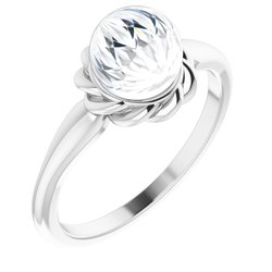 Pearl Halo-Style Rope Ring