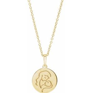 """14K Yellow Hold You Forever® 16-18"""" Necklace"""