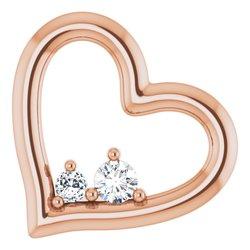 Heart Necklace or Slide Pendant