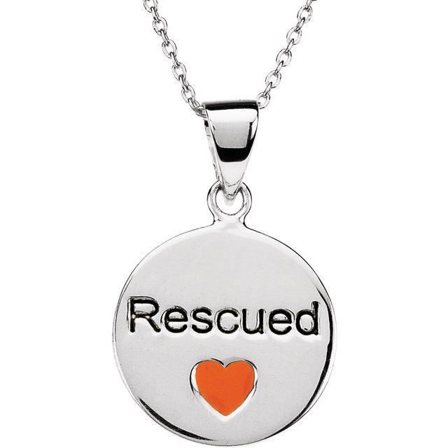 Sterling Silver Heart U Back™ Rescue 18