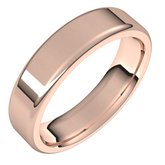Flat Comfort Fit Round Edge Band