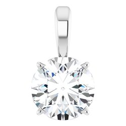 Solitaire 4-Prong Scroll Pendant
