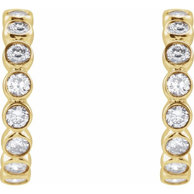 14K Yellow 1/3 CTW Lab-Grown Diamond Huggies