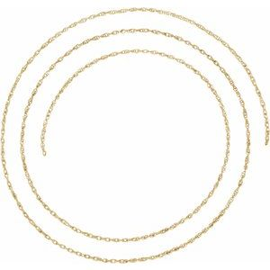 14K Yellow 1.25 mm Rope Per Inch Chain
