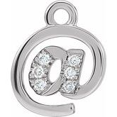 Petite Pave @ Symbol Dangle