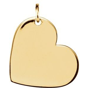 14K Yellow 11x9 mm Heart Pendant