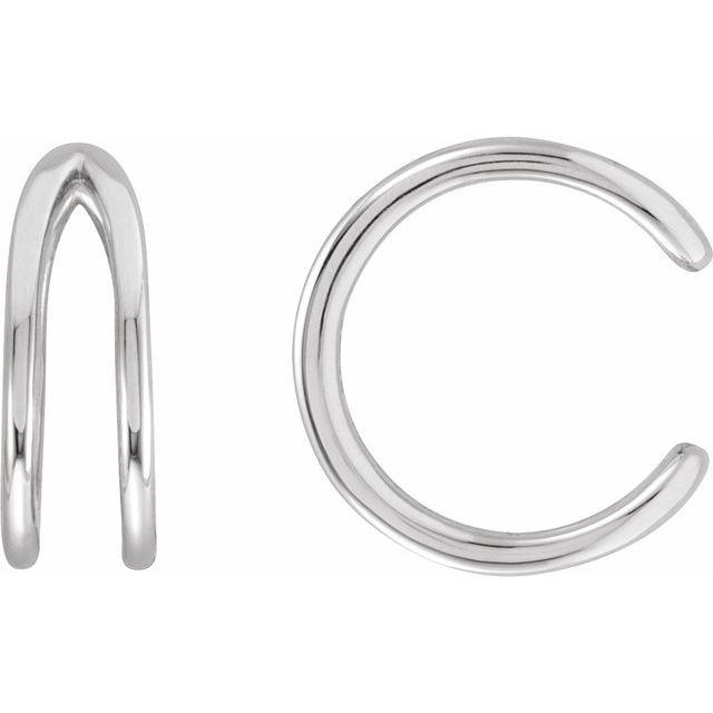 14K White Negative Space Ear Cuff