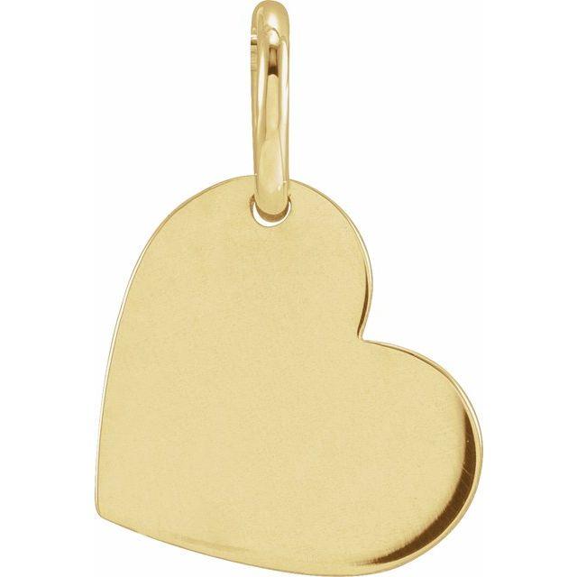 14K Yellow 11x9 mm Heart Pendant