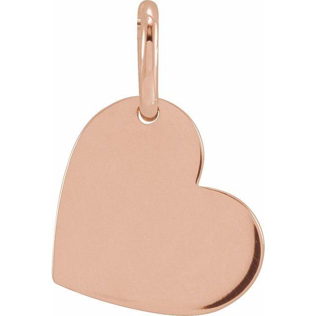 14K Rose 11x9 mm Heart Pendant