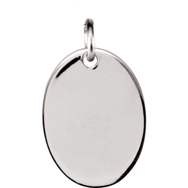 Sterling Silver 12.7x9.5 mm Oval Pendant