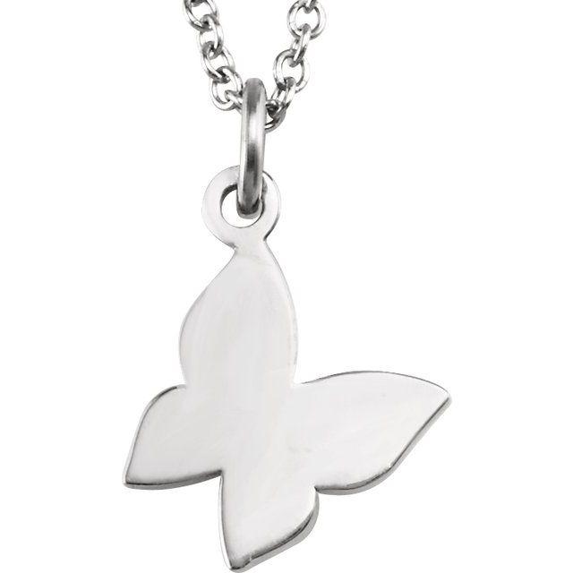 Sterling Silver Tiny Posh® Butterfly 16-18