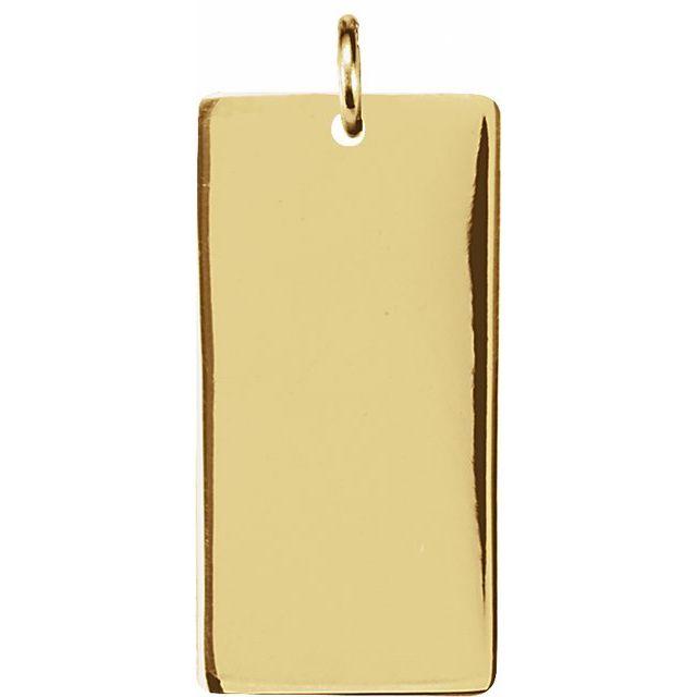 14K Yellow 19x10 mm Be Posh® Rectangle Pendant