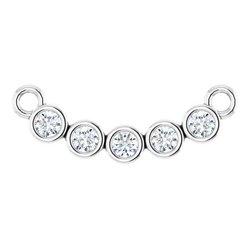 Bezel Set Necklace or Center