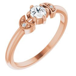 Stackable Rose-Cut Ring