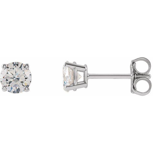 14K White 3/4 CTW Lab-Grown Diamond Stud Earrings
