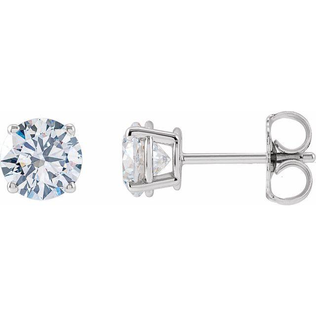 14K White 1 1/4 CTW Lab-Grown Diamond Stud Earrings