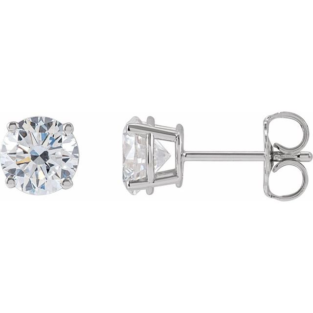 14K White 1 1/2 CTW Lab-Grown Diamond Stud Earrings