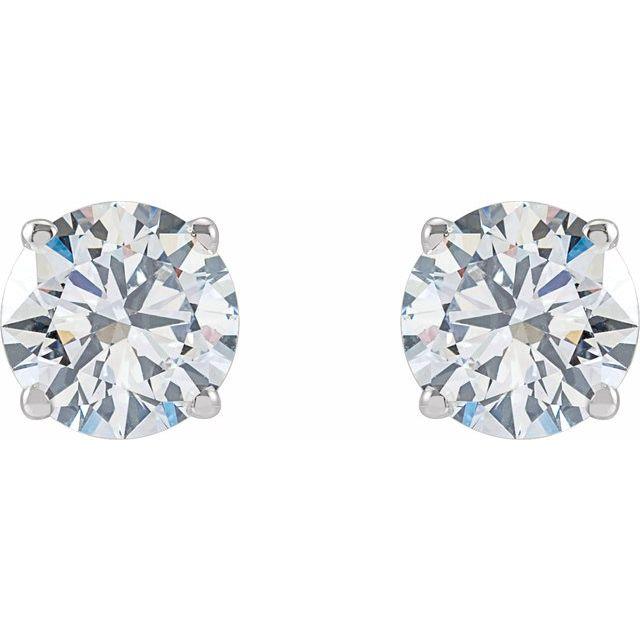 14K White 2 CTW Lab-Grown Diamond Stud Earrings