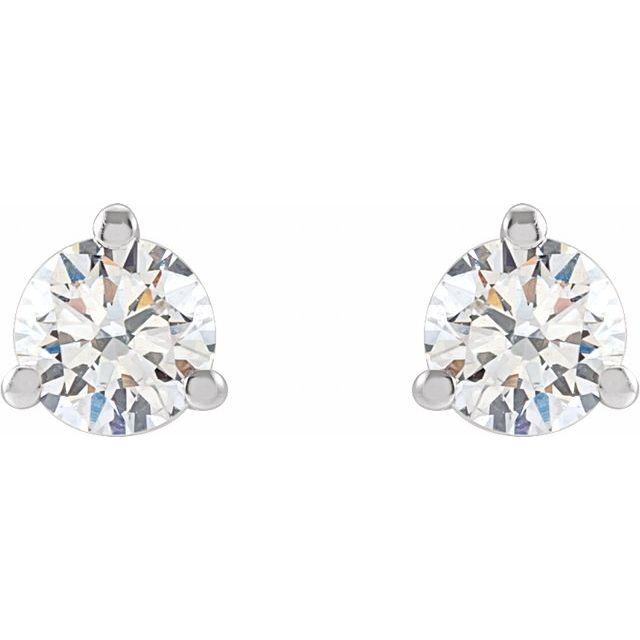 14K White 1/3 CTW Lab-Grown Diamond Stud Earrings