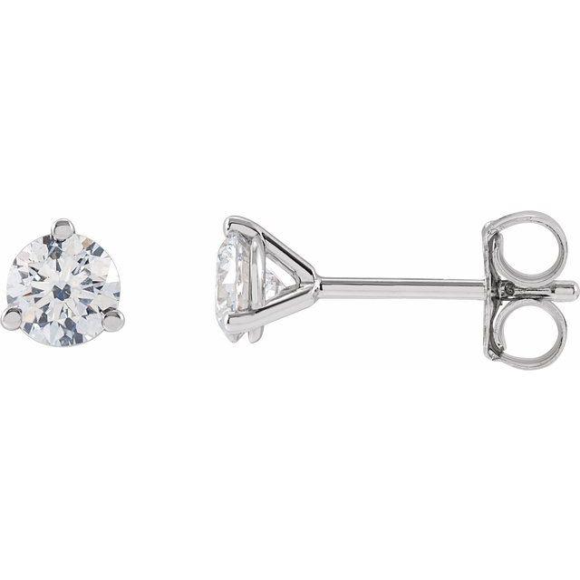 14K White 1/2 CTW Lab-Grown Diamond Stud Earrings