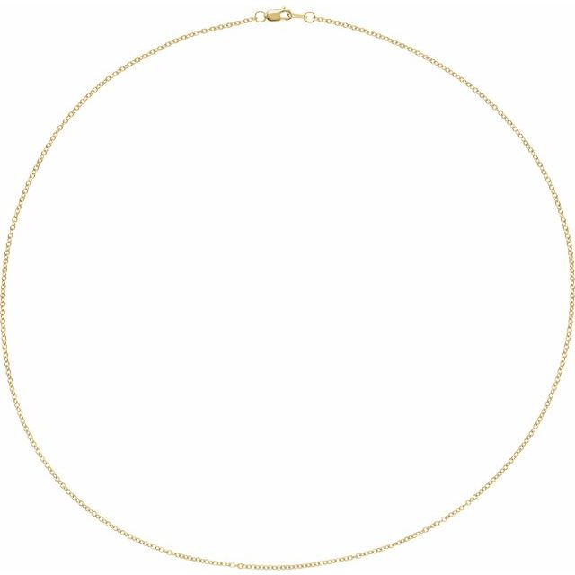 14K Yellow 1.5 mm Solid Cable 20