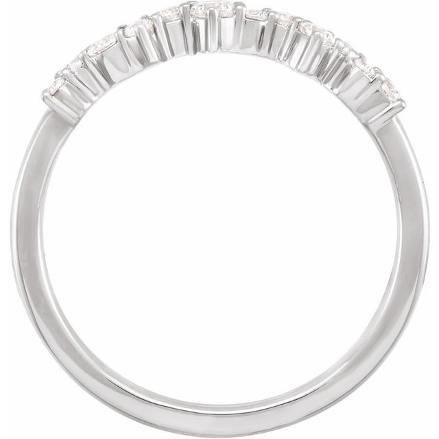 14K White 1/4 CTW Lab-Grown Diamond Scattered Stackable Ring