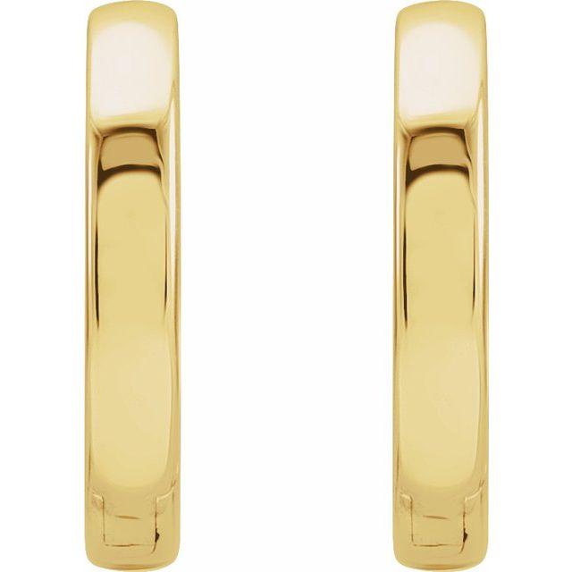 18K Yellow 16 mm Hinged Hoop Earrings