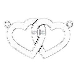 Double Heartnáhrdelník alebo neosadený