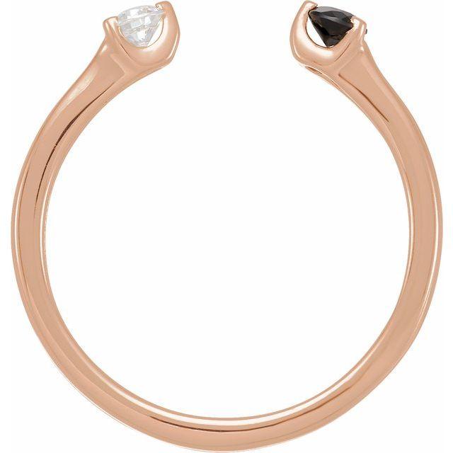 14K Rose Onyx & 1/10 CT Diamond Negative Space Ring