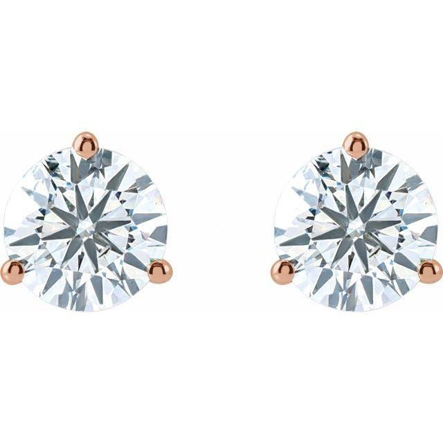 14K Rose 2 CTW Lab-Grown Diamond Stud Earrings