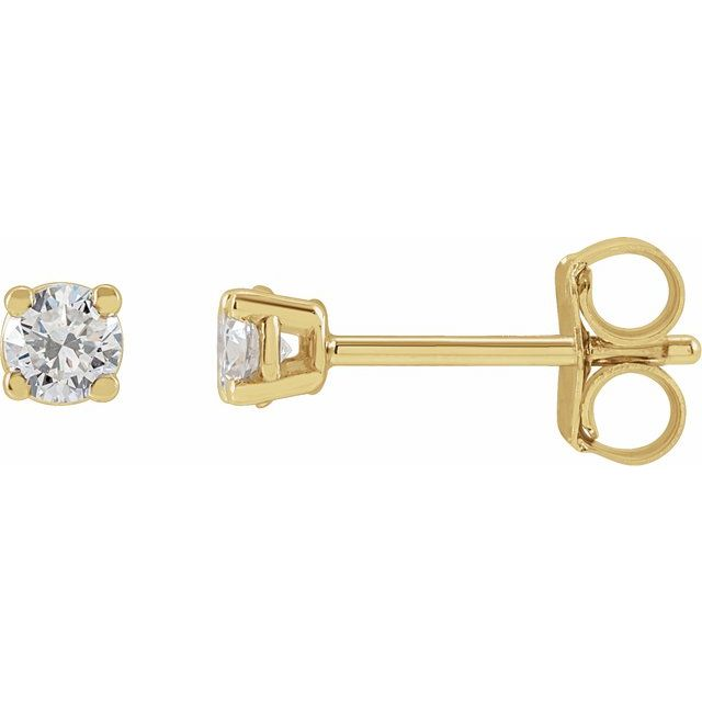 14K Yellow 1/3 CTW Lab-Grown Diamond Stud Earrings