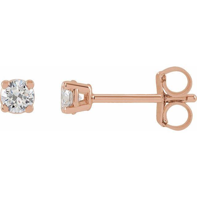14K Rose 1/3 CTW Lab-Grown Diamond Stud Earrings