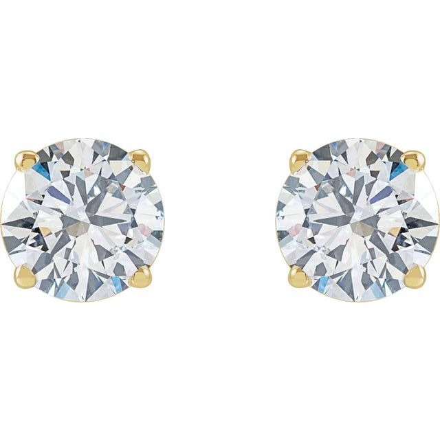 14K Yellow 1 1/2 CTW Lab-Grown Diamond Stud Earrings