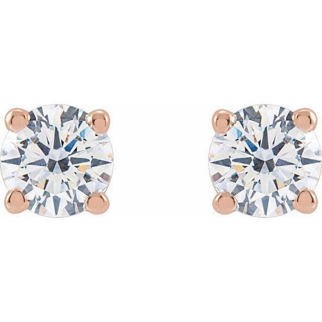 14K Rose 3/4 CTW Lab-Grown Diamond Stud Earrings