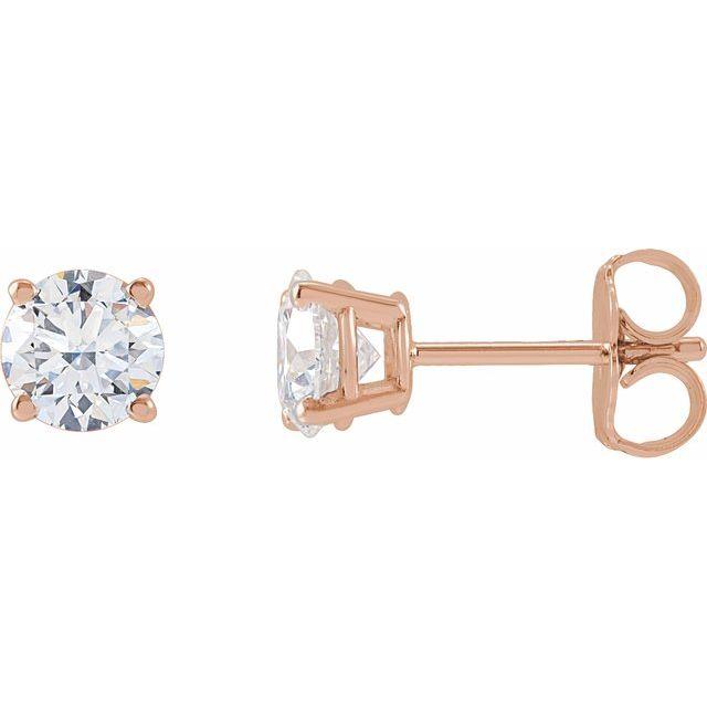 14K Rose 1 CTW Lab-Grown Diamond Stud Earrings