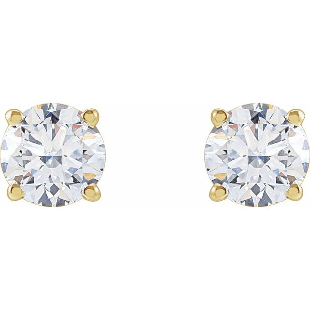 14K Yellow 1 1/4 CTW Lab-Grown Diamond Stud Earrings