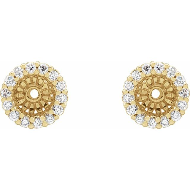 14K Yellow 1/6 CTW Diamond Earring Jackets with 4.6 mm ID