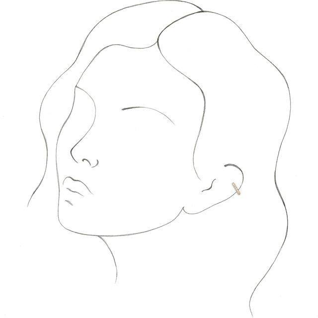 14K Yellow 1/6 CTW Diamond Ear Cuff