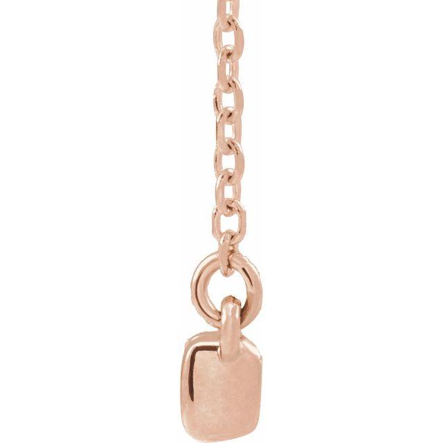 14K Rose 1/2 CTW Diamond French-Set Bar 18