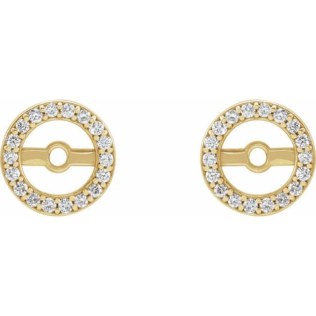 14K Yellow .08 CTW Diamond Earring Jackets with 4.6 mm ID
