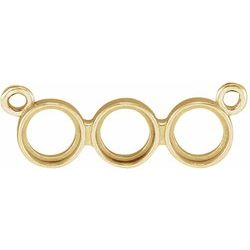 Rose-Cut Three-Stone Necklace or Center