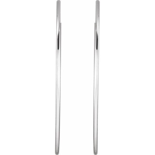 Sterling Silver 60 mm Endless Hoop Tube Earrings