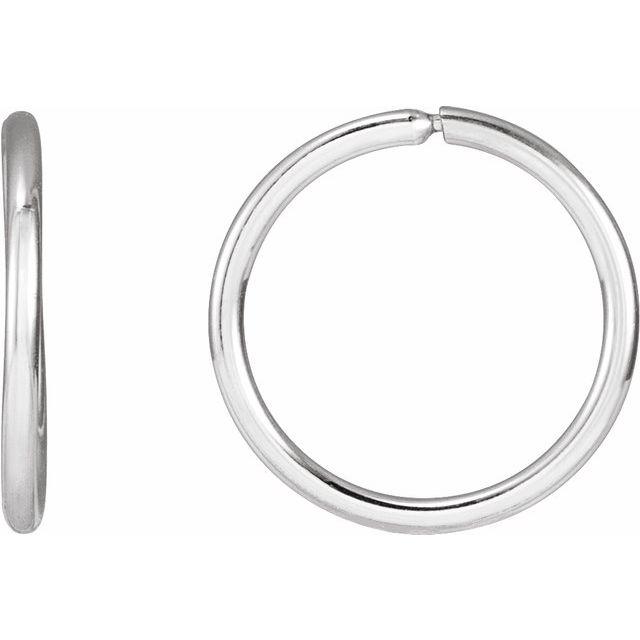 Sterling Silver 13 mm Endless Huggie Earrings