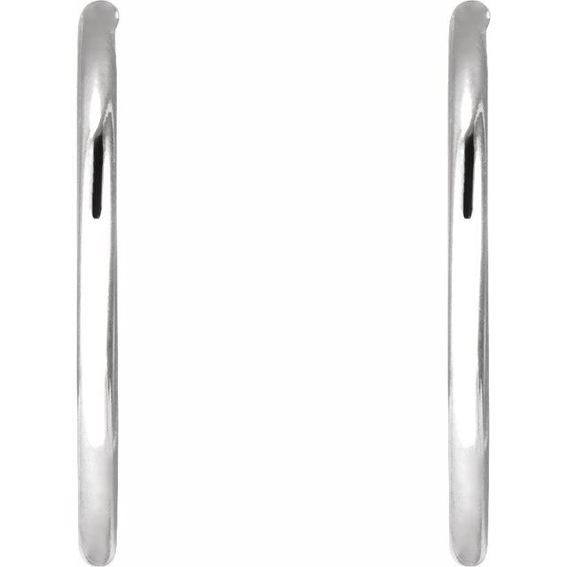 Sterling Silver 19 mm Endless Hoop Tube Earrings