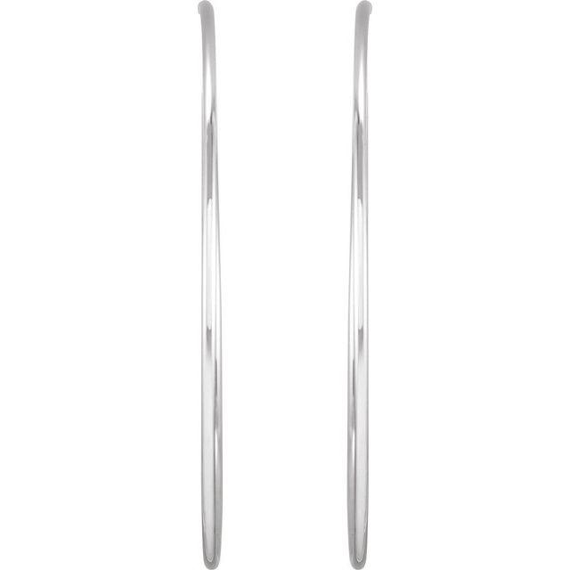 Sterling Silver 65 mm Endless Hoop Tube Earrings