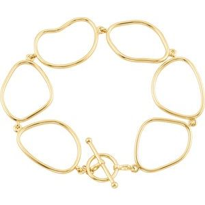 "14K Yellow Open Silhouette 7.75"" Bracelet"
