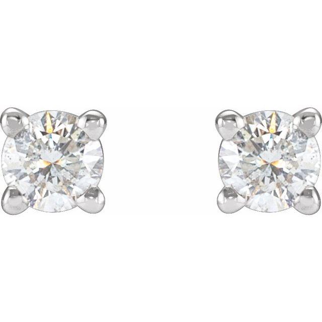 Platinum 1/4 CTW Diamond Stud Earrings