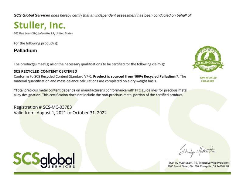 SCS Palladium Certificate